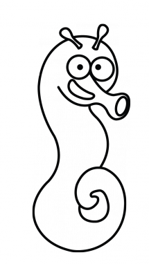 Simple at getdrawings com. Drawing seahorse clipart library library