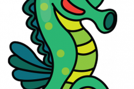 Drawing seahorse colorful. Images of seahorses to