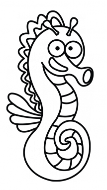 Drawing seahorse easy. At getdrawings com free jpg black and white stock