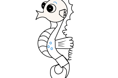 Drawing seahorse kawaii. Pictures of seahorses to