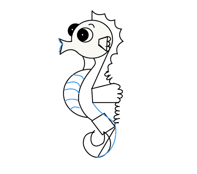 Drawing seahorse simple. Images of seahorses to
