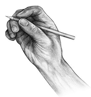 Drawing shade hand. Collection of with