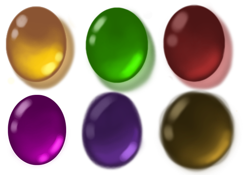 Drawing shade practice. Colors gems tutorials references