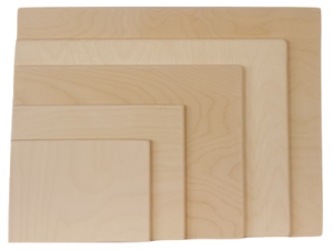 Drawing rectangles sketch. Professional wooden artist sketching
