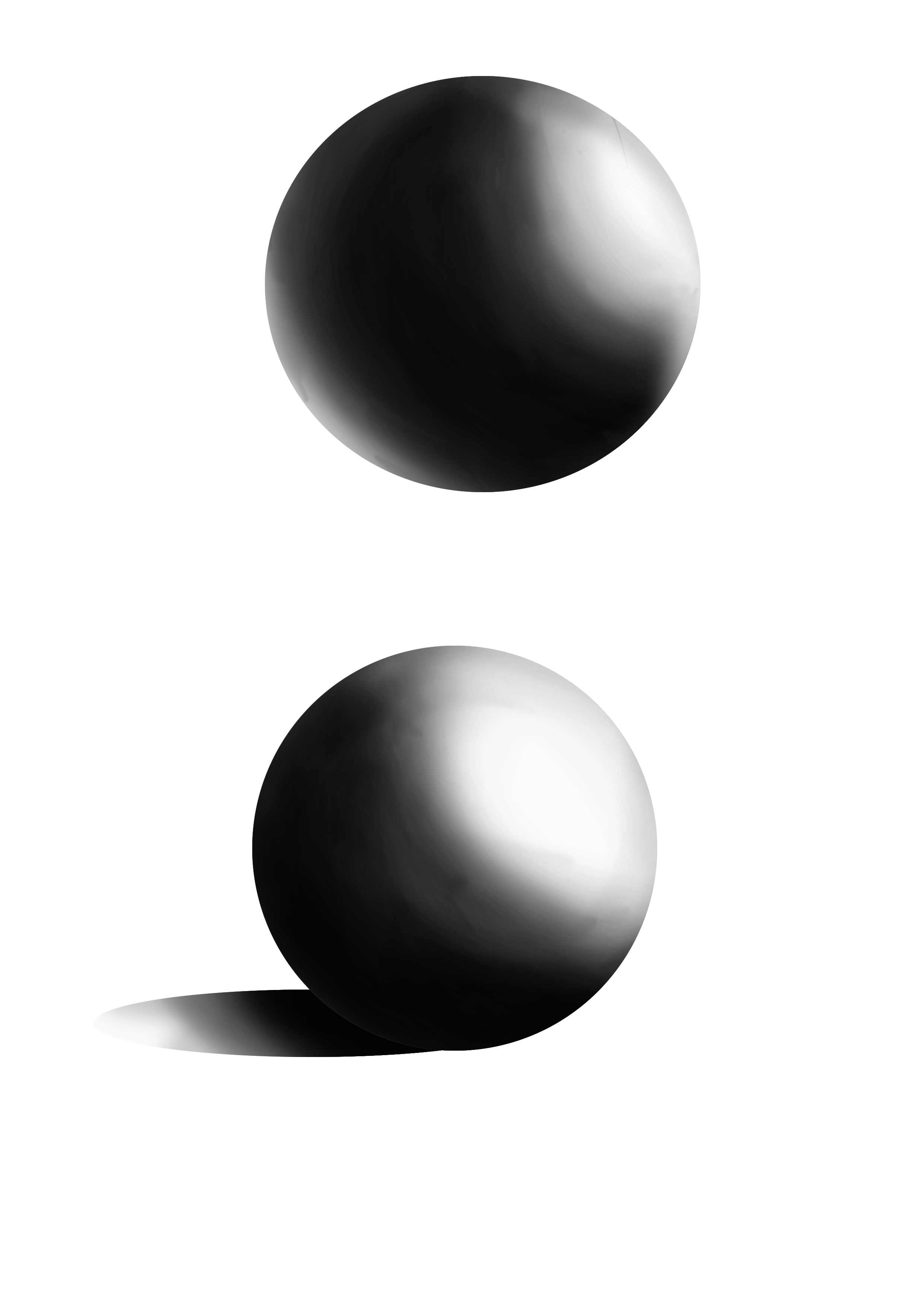 Drawing shade sphere. Advanced lighting and values