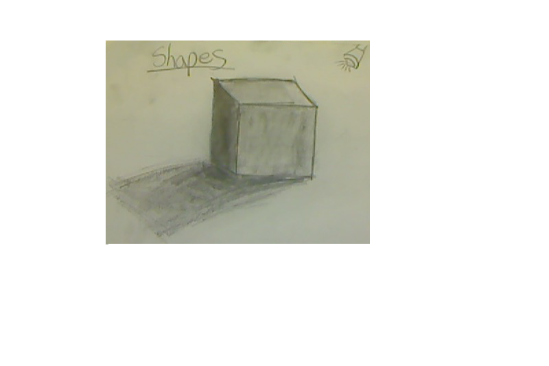 Drawing shade square. Realistic if the light