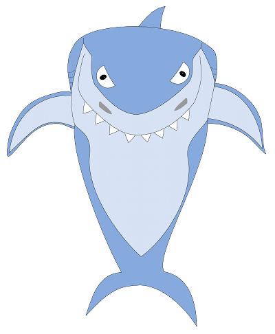 Inscape drawing fish. Caricaturing with inkscape open