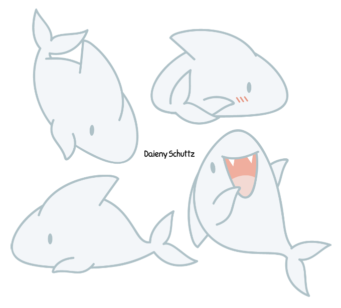 Drawing shark chibi. By daieny deviantart com