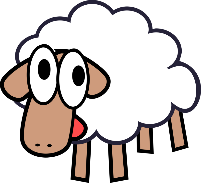 Drawing sheep abstract. Goat cartoon computer icons