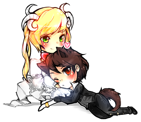 Drawing sheep chibi. The and wolf by