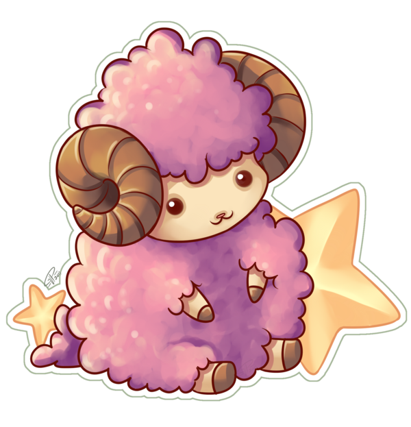 Drawing sheep chibi. Little goat by angelnablackrobe