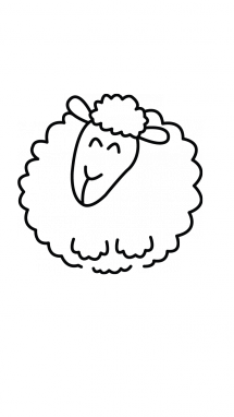 Drawing sheep cute. How to draw a