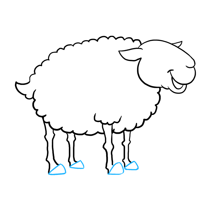 Drawing Sheep Easy Transparent Png Clipart Free Download Ya
