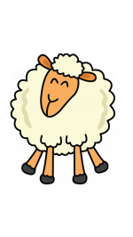 Drawing sheep farm animal. How to draw a