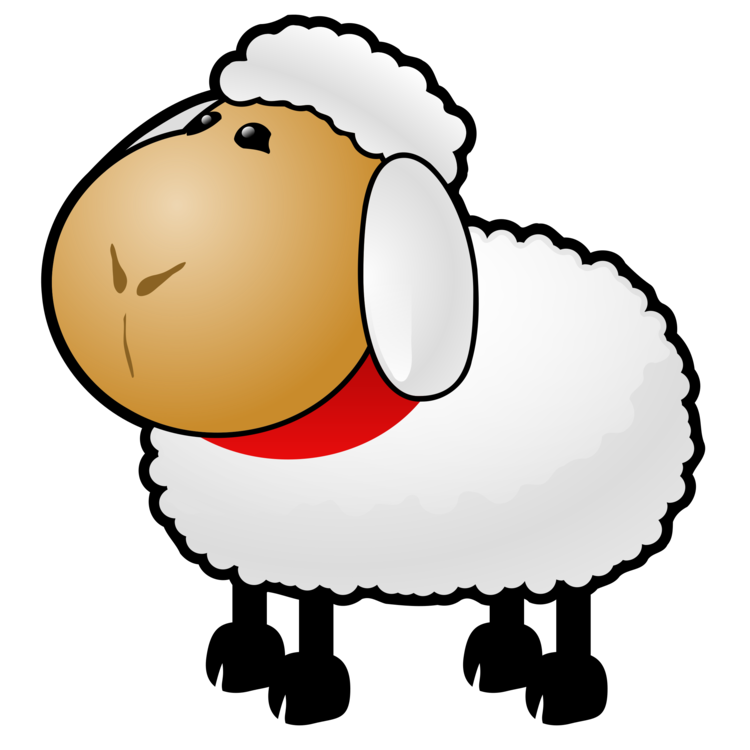 Goat wool free commercial. Drawing sheep farm animal banner transparent library
