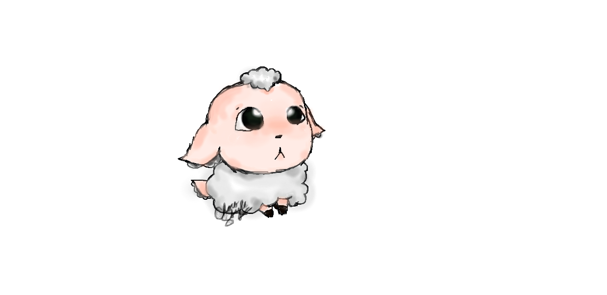 Drawing sheep fluffy. It looks so i