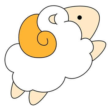 Drawing sheep fluffy. By coconut panda on