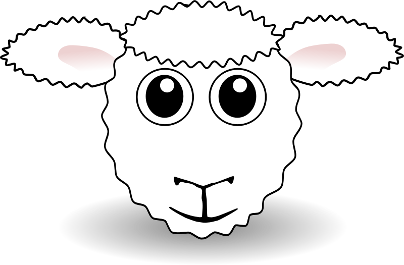 Drawing sheep fluffy. Download clip art free