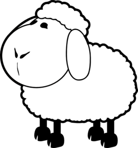 Drawing sheep outline. Clip art at clker