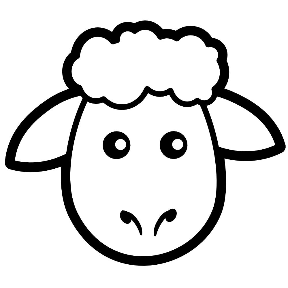 Drawing sheep face. Free coloring pages of