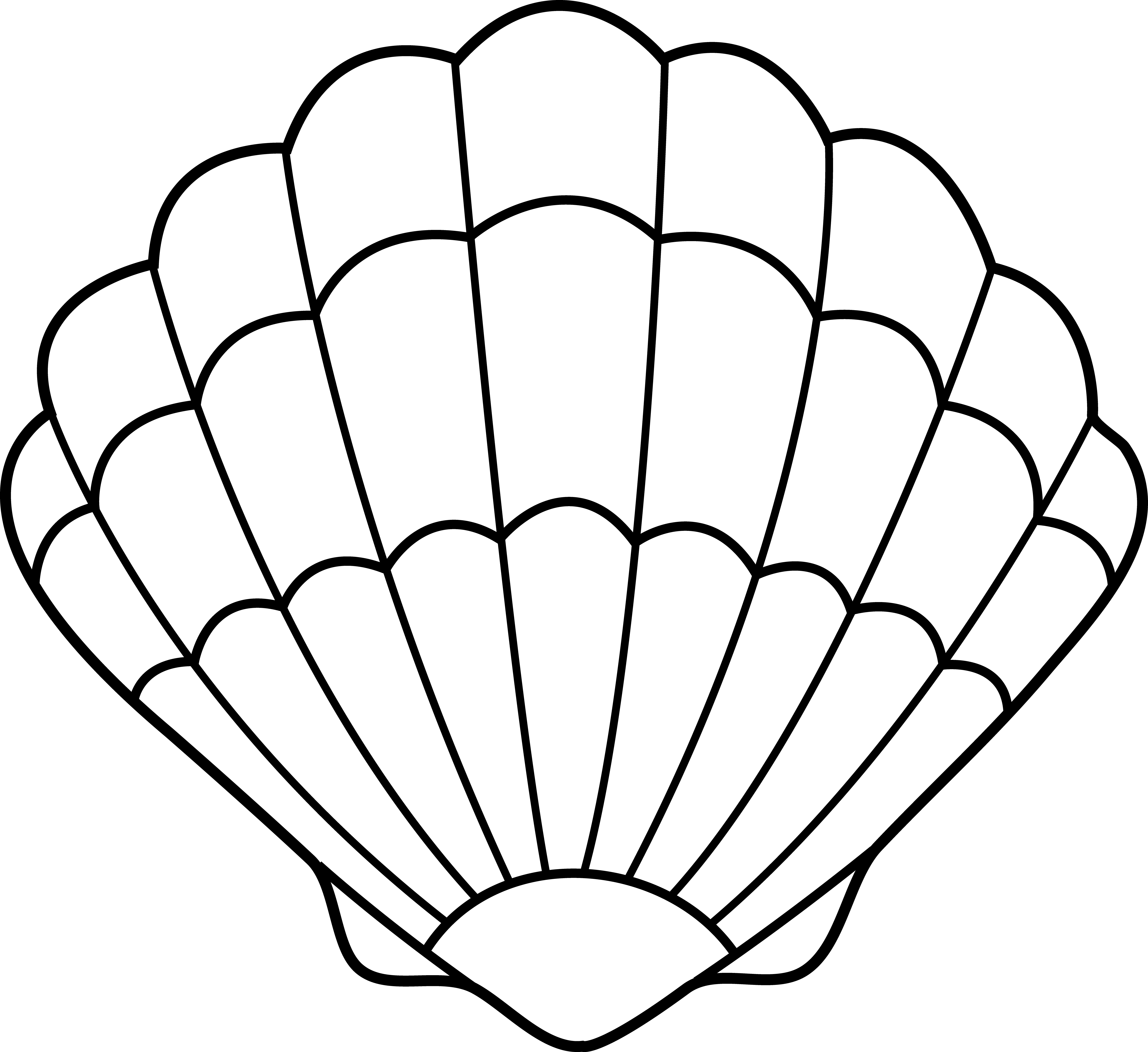 mermaid shell clip. Oyster clipart drawn jpg free library
