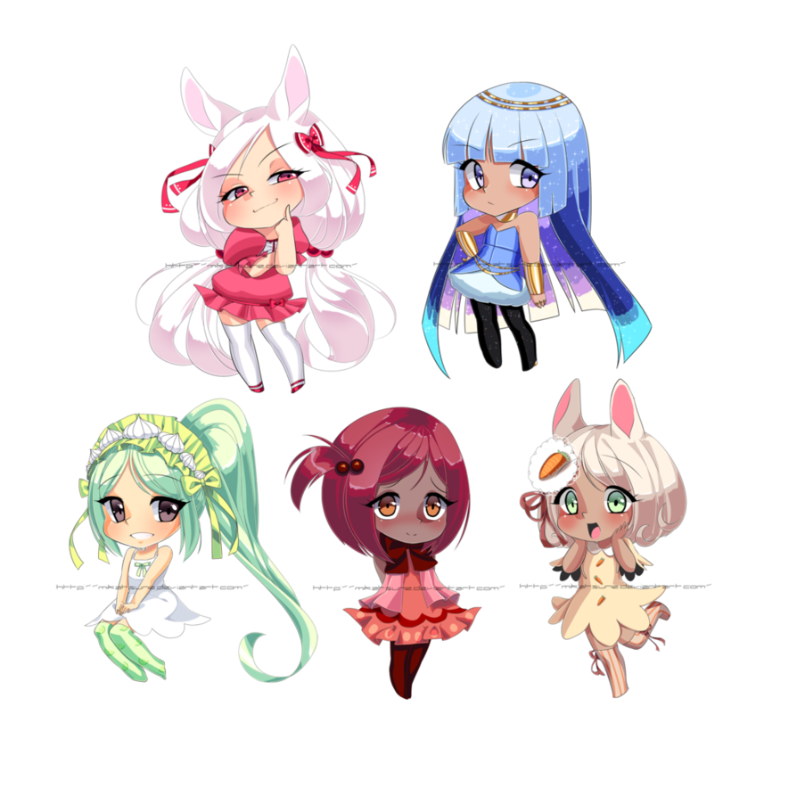 Drawing shell shaded. Cell chibis by mikabunni