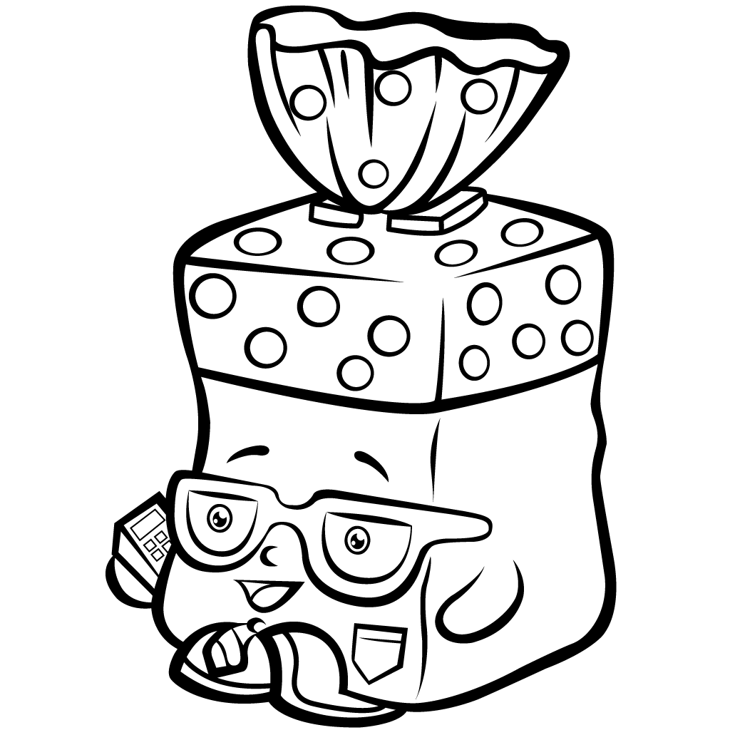 Drawing shopkins black and white. Image transparent library free