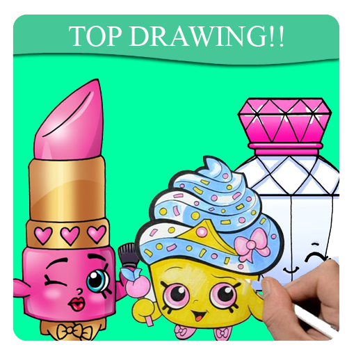 Drawing shopkins cute. How to draw apk