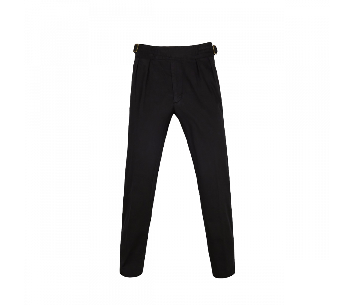 Drawing shorts army pants. Black manny pleated cotton