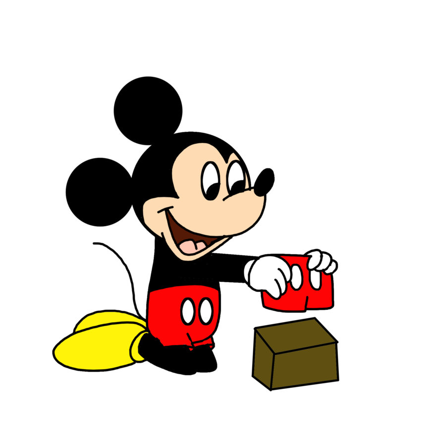 Drawing shorts cartoon. Mickey receiving red at