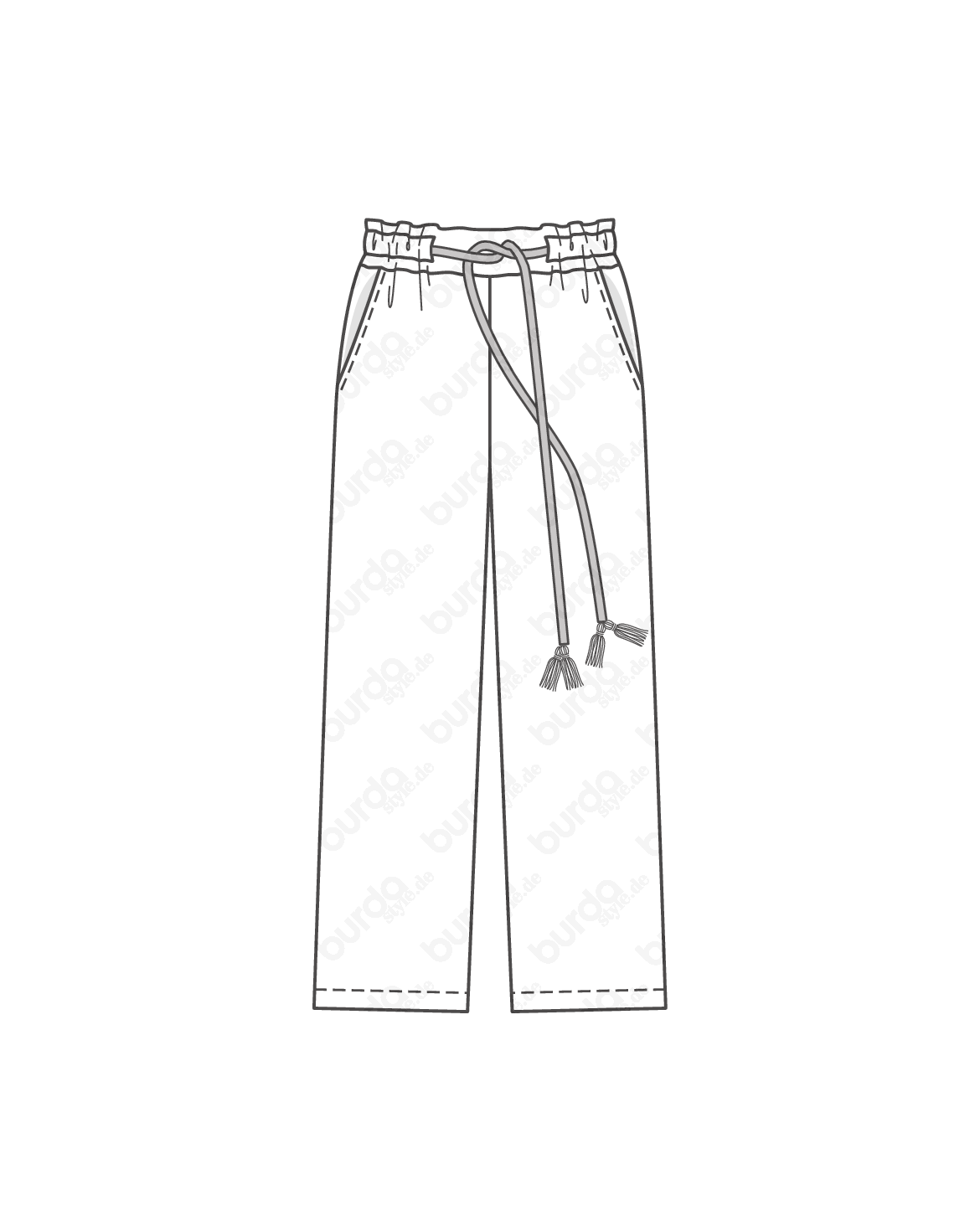 Drawing shorts folded pants. Schnittmuster schlupfhose f s