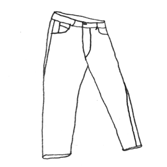 Pocket drawing trouser. Trousers shorts sofie d