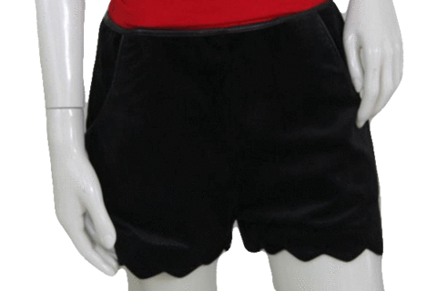 Drawing shorts leather. Sizzling designers on a