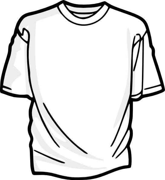 Drawing shorts shirt. Blank t clip art