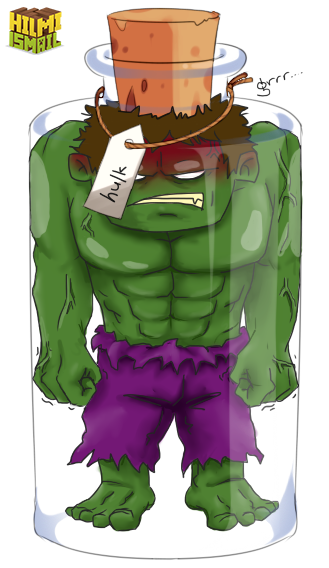 Bottled hulk by hilmi. Drawing shorts superhero clip art freeuse library