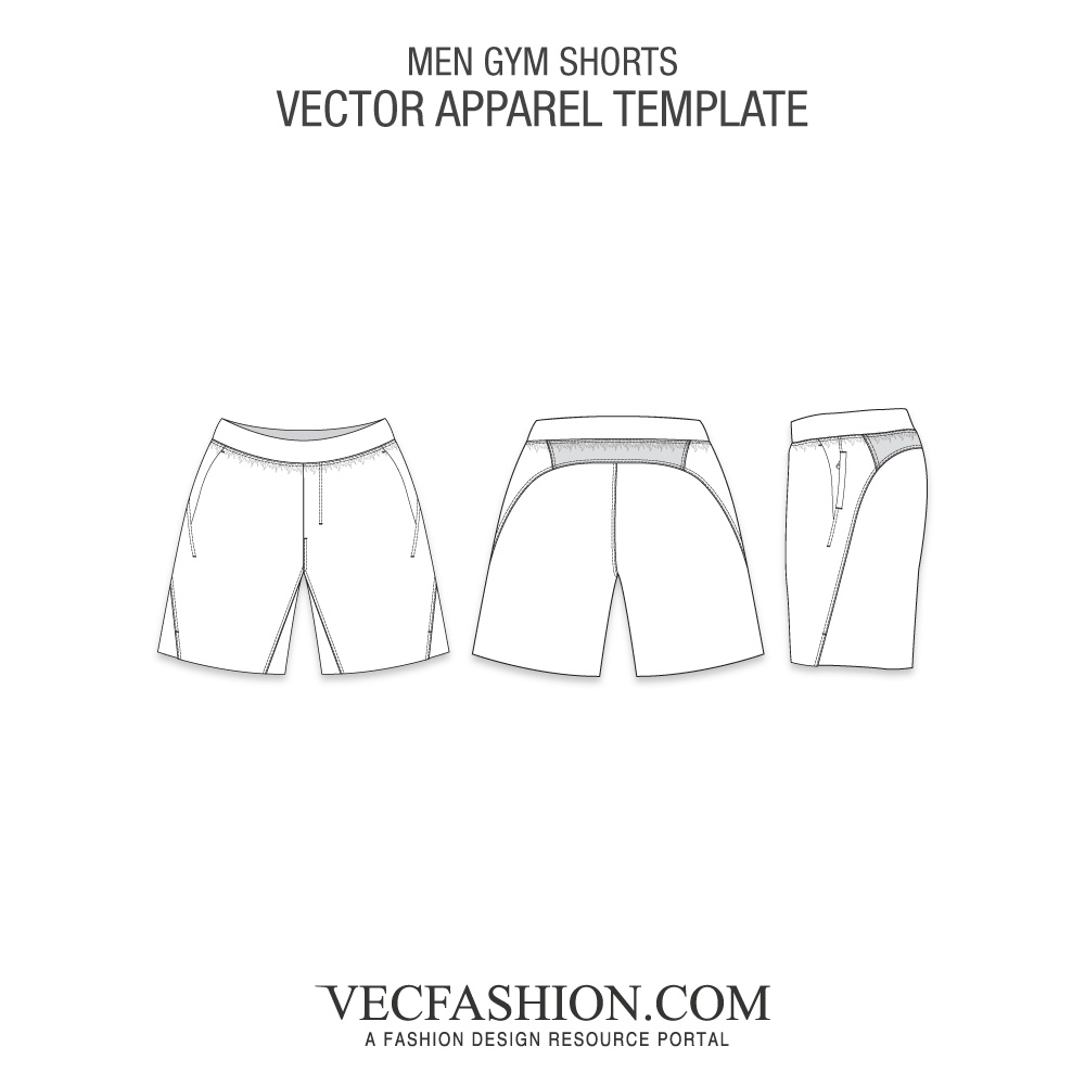 Drawing shorts technical. Bottoms tagged training vecfashion