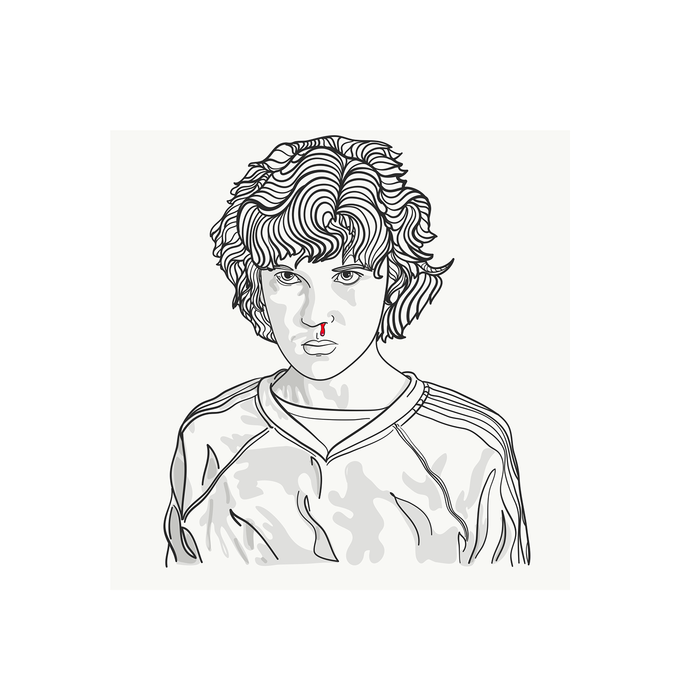 Drawing show. Tv stranger things on