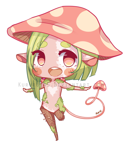 Drawing shrooms chibi. Com milliemunchers by kururu