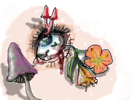 Drawing shrooms flower. Forum draw yourself with