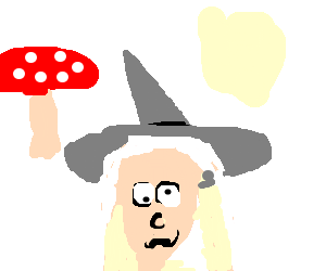 Drawing shrooms happy. Gandalf on by andy