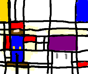 Drawing shrooms minimalist. A mario with and