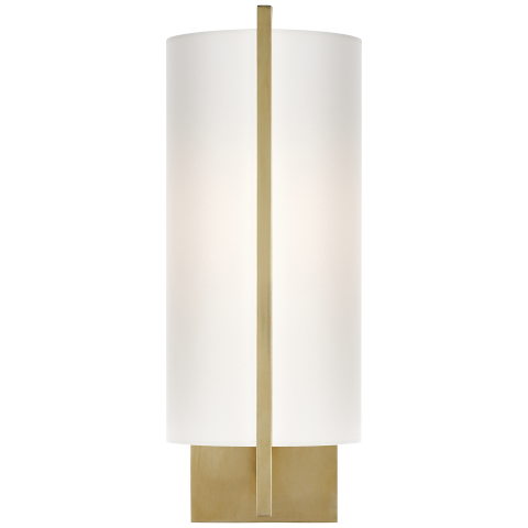 Drawing silk shading. Framework sconce in soft