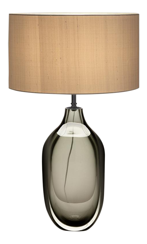 Drawing silk shading. Vento glass lamp with