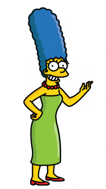 Bart drawing gangster. How to draw marge