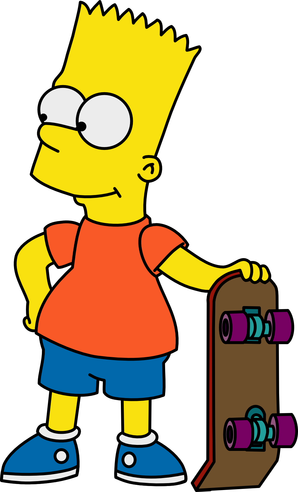 Drawing skateboard bart simpson. With his by mighty