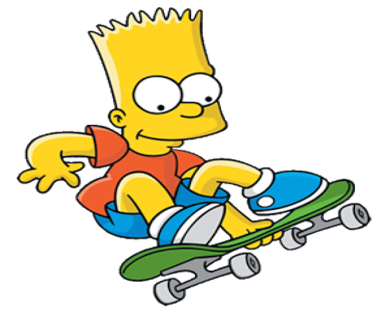 Drawing skateboard bart simpson. Skateboarding por todos es