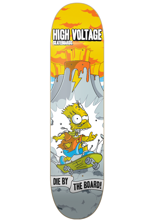 Bart drawing zombie. Hv skate deck on