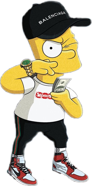 Bart drawing supreme. Simpson sticker by isaac