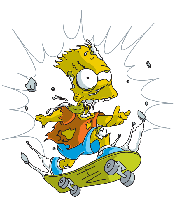 drawing skateboard bart simpson