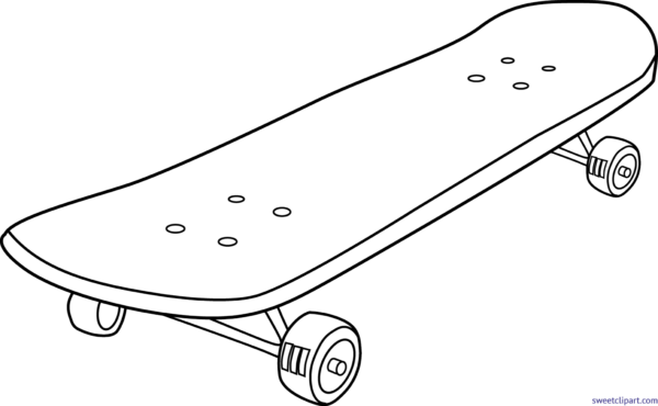 Drawing skateboard easy. Vector royalty free
